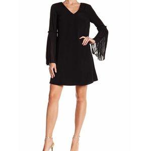 CeCe Madelines V Neck Dress Bell Sleeves B506